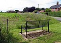 Bench in Long Stratton Road, Forncett End, Norfolk - geograph.org.uk - 853205.jpg