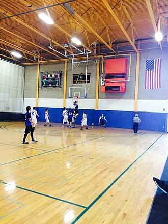 Berkshire Community College - Students from Berkshire Community College's basketball team play against Bard College at Simon's Rock in the BCC gym.