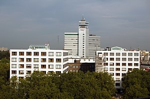 Rundfunk Berlin-Brandenburg - View over the building complex between Masurenallee, Kaiserdamm and Theodor-Heuss-Platz