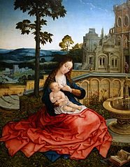 Virgin and Child near a Fountain