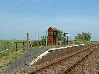 Berney Arms railway station - Berney Arms railway station in 2004
