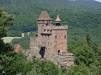 Imperial castle - The imperial castle of Berwartstein, Palatinate, Germany