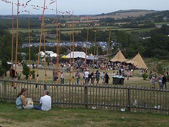 Bestival 2006 - The view over the site.