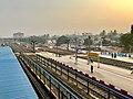 Bhubaneswar railways station during sunrise (January 2019).jpg