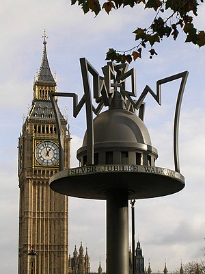 Jubilee Walkway - A walkway marker at Parliament Square