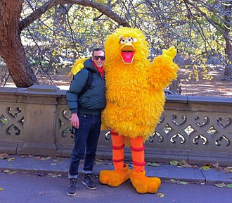 Big Bird - Big Bird (costume) in Central Park, New York City