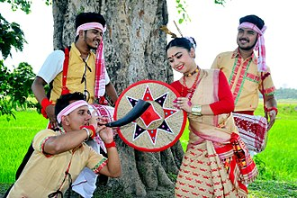 Bihu dance - Youths perform Bihu dance in Assam