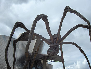 Maman, a huge spider by Louise Bourgeois outsi...
