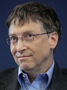 Bill Gates speaking at the World Economic Forum in Davos, Switzerland, January 26, 2012