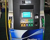 Biofuel dispenser for several ethanol and biodiesel blends WAS 2010 8953.jpg
