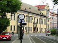 Bishops Palace in Kraków and Filharmonia tram stop in 2015.JPG