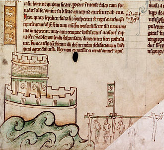 Henry III of England - Bedford Castle and the execution of the garrison in 1224,  (Matthew Paris)