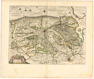 Siege of Ostend - Map of Flanders in the 17th century