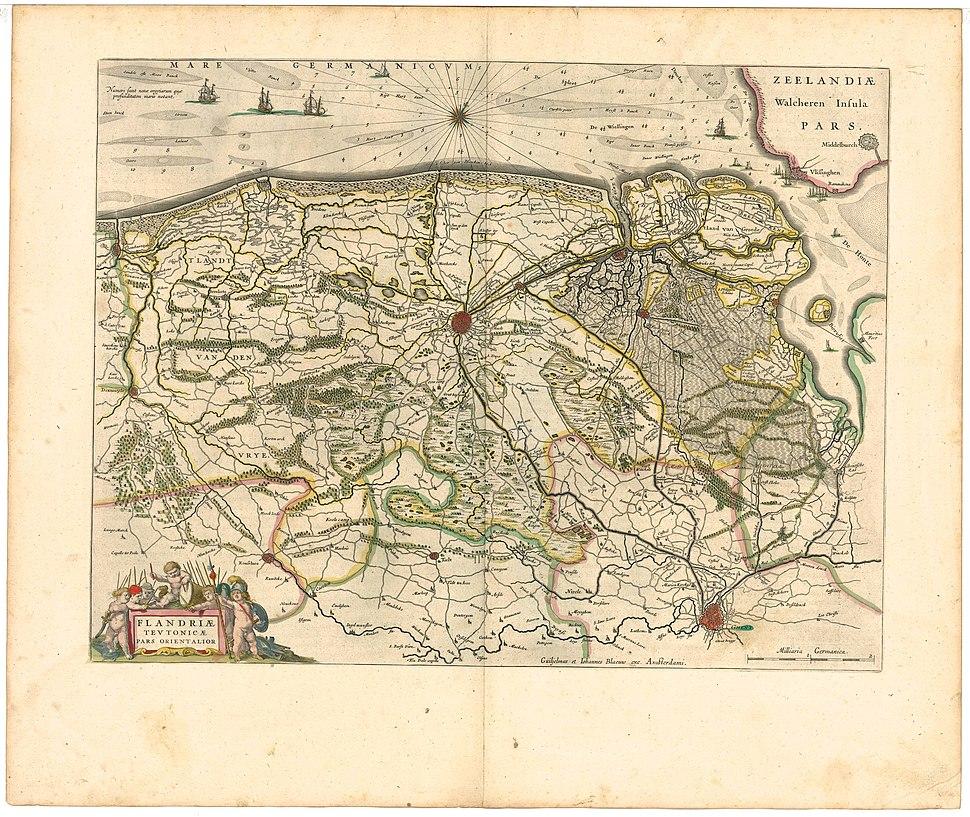 Blaeu 1645 - Flandriæ Teutonicæ pars orientalior