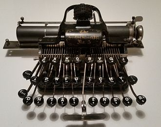 Blickensderfer typewriter - Very early example of a Blickensderfer No. 5 typewriter dated 1894