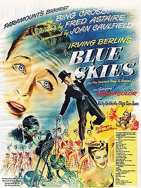 Description de l'image Blue Skies 1946 poster.jpg.
