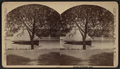 Boat on Lake Eldridge. (Preaching?) stand in rear, by Tomlinson, C., fl. 1874-1890.png