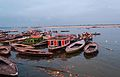 Boats waiting for passengers in Dasaswamedh Ghat Varanasi.jpg