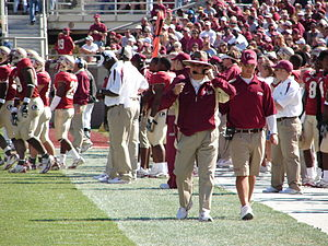 Florida State Seminoles - Hall of Fame coach Bobby Bowden on the sideline
