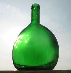 a Bocksbeutel style Bottle