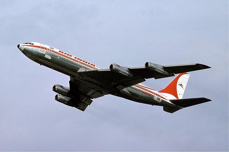 File:Boeing 707 Air India Basle - 1976.jpg