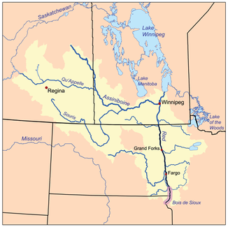 Einzugsgebiet des Red River of the North