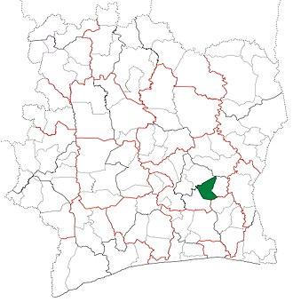 Bongouanou Department - Image: Bongouanou Department locator map Côte d'Ivoire