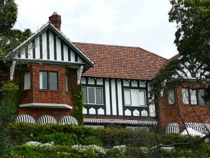 Australian architectural styles - Bonnington, Bellevue Hill, New South Wales, an example of the Inter-War Old English style, designed by Glynn Gilling circa 1935.