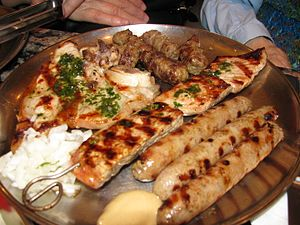 Bosnia and Herzegovina cuisine - Bosnian meat platter