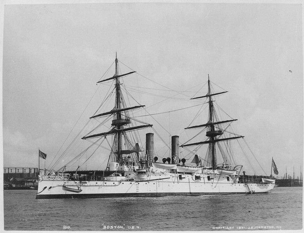 Boston (protected). Port bow, 1891 - NARA - 512892