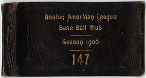 1906 Boston Americans season - 1906 Season pass.