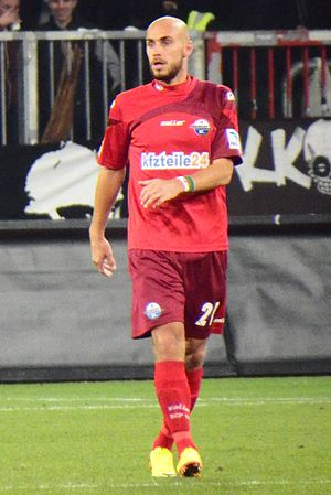 Daniel Brückner - Brückner playing for Paderborn in 2013