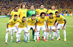 Seleção do Brasil antes da partida final (foto Danilo Borges Portal da Copa ). d393b541cf383