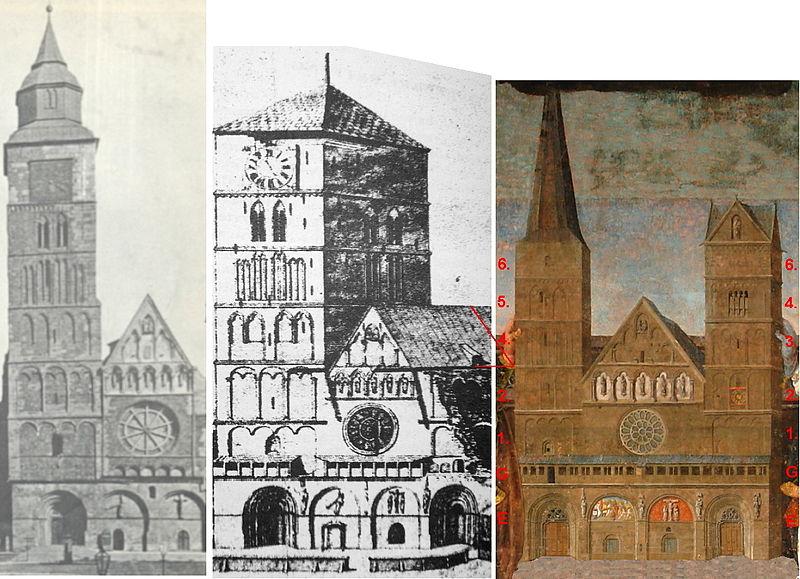 File:Bremer Dom 1887 + Dahlberg 1695 + Bruyn 1532Nr.jpg