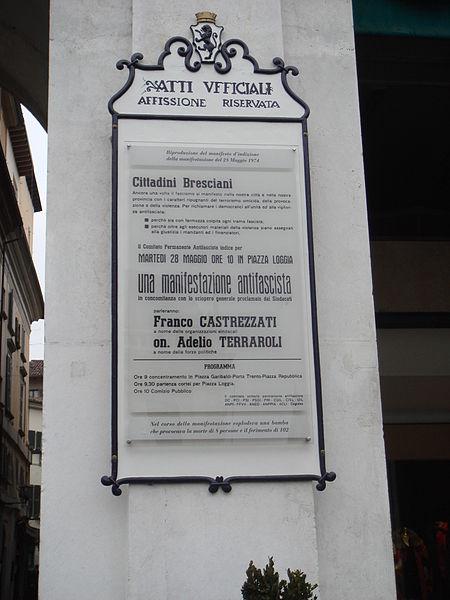File:Brescia strage piazza loggia manifesto by Stefano Bolognini.JPG