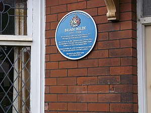 Brian Wilde - Brian Wilde plaque in Ashton-under-Lyne