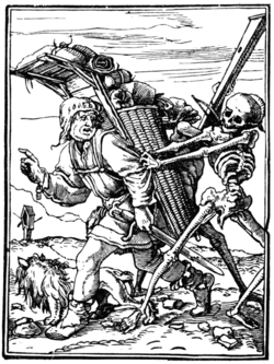 HOLBEIN'S DANCE OF DEATH THE PEDLAR