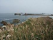 Typische bretonische Küstenlandschaft