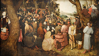 John the Baptist - The Preaching of St. John the Baptist by Pieter Bruegel the Elder