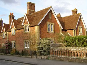 Beaulieu, Hampshire - Buccleuch Cottages, typical of the architectural style in Beaulieu village
