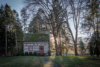 James Buchanan - Buchanan's log cabin birthplace, relocated to Mercersburg, Pennsylvania
