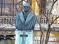 Bucuresti, Romania, Str. Henri Coanda (casa Macca - Institutul de Arheologie Vasile Parvan) B-II-m-B-18440 (Statuia lui Vasile Parvan 2).JPG