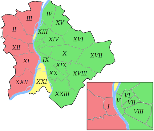 List Of Districts In Budapest Wikipedia