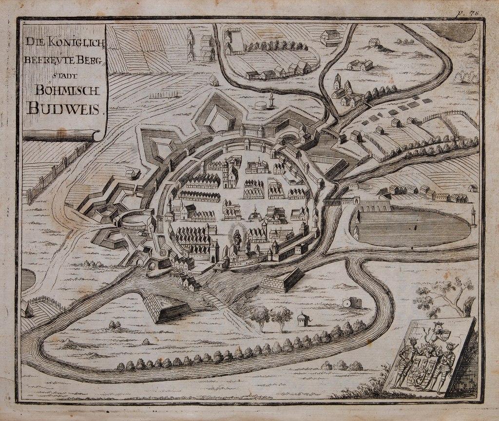 Budweis by Johann Georg Vogt 1712.tiff