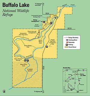 Buffalo Lake National Wildlife Refuge - Image: Buffalo Lake NWR Map