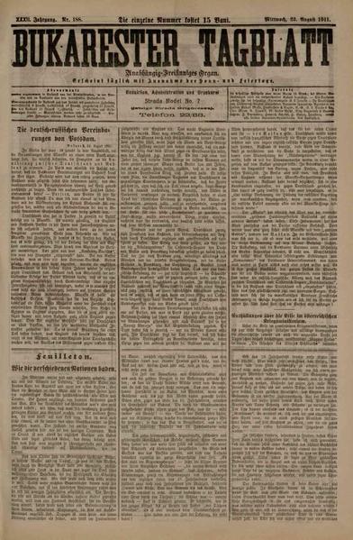 File:Bukarester Tagblatt 1911-08-23, nr. 188.pdf