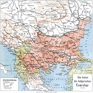 Bulgarian Exarchate - Map of the Bulgarian Exarchate (1870–1913).