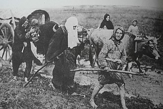 Muhacir - Turkish immigrants from Bulgaria arriving in Anatolia in 1912.