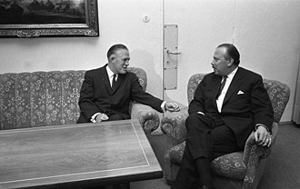 George W. Romney - Governor Romney meeting with German Secretary of State Freiherr von Guttenberg in December 1967