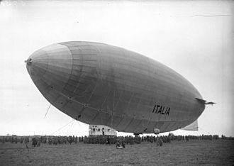 Airship Italia - In April 1928 the Italia landed at Stolp en route to the pole
